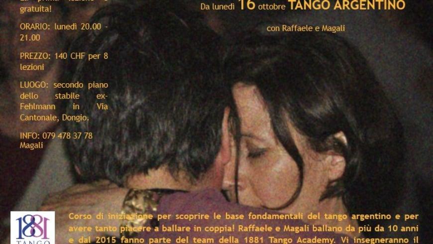 Corso Tango Principianti, Dongio, con Raffaele e Magalì