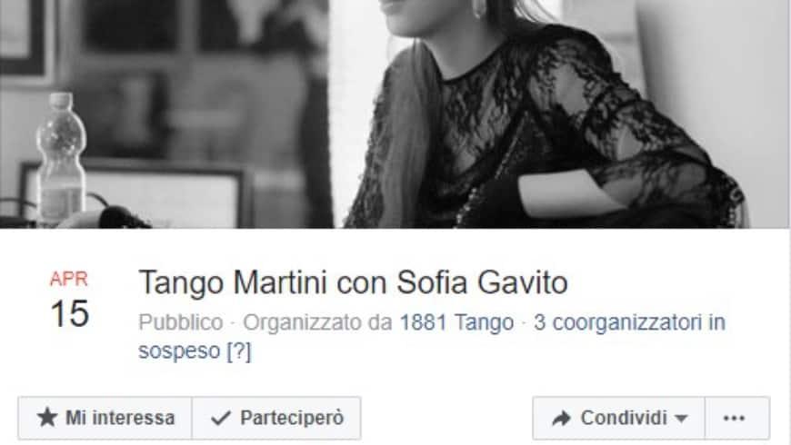 Tango Martini, DJ Sofia Gavito, Centro Ciossetto, METCATINO dell'Usato