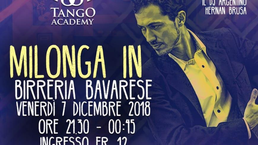 Milonga in Birreria Bavarese, DJ Hernan Brusa